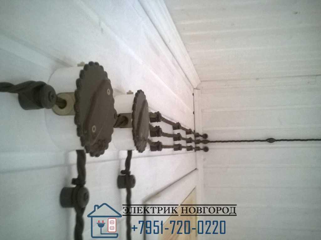Монтаж проводки в деревянном доме