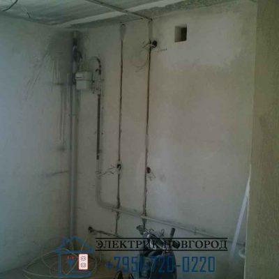 Замена электропроводки на кухне в новостройке.