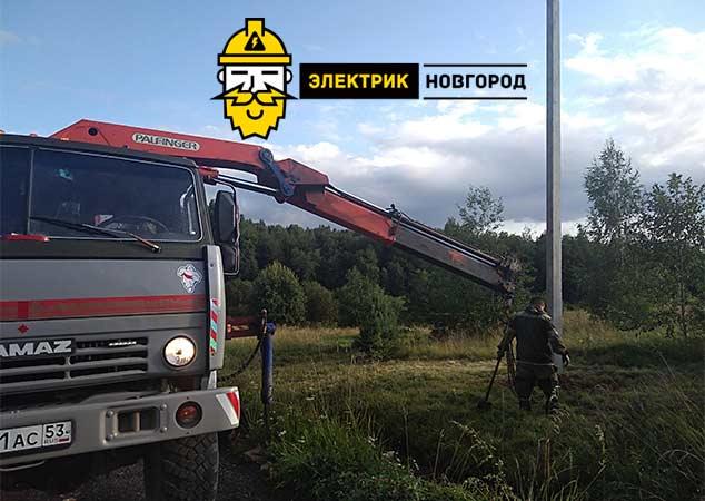 Установка дополнительных опор деревянных, бетонных Новгород Великий